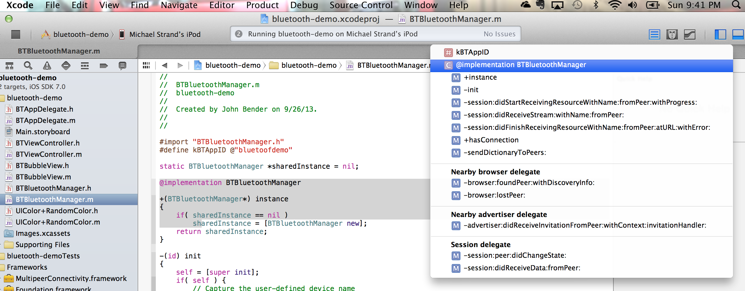 Breaking Down Bluetooth in Objective-C and iOS7 | StrandCode com